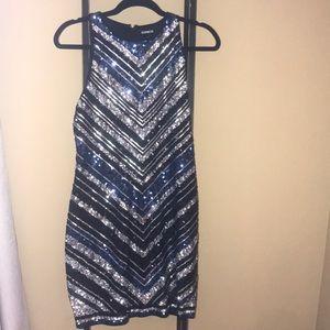 Express sequin geometric dress M